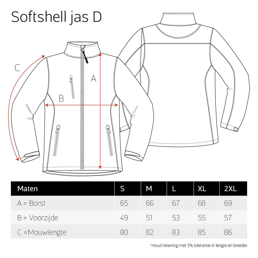 Luxe Softshell jas dames