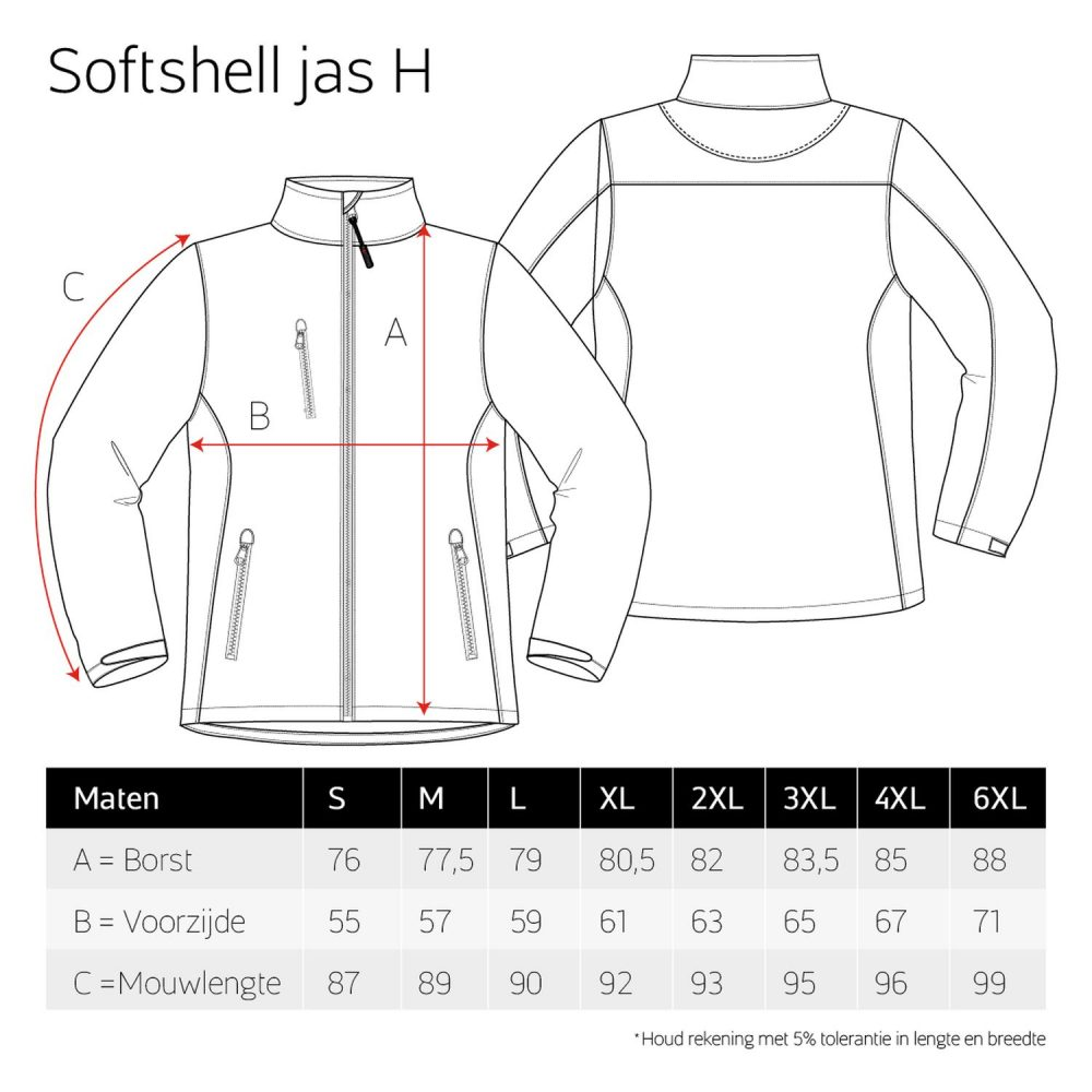 Luxe Softshell jas heren